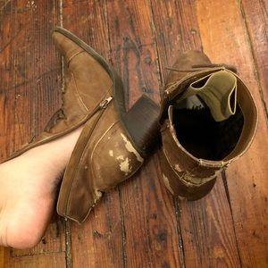Very well worn booties